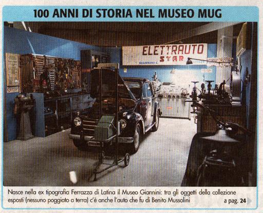 100 anni di storia nel museo MUG